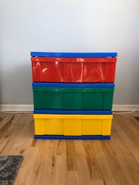 Plastic toy storage with drawers