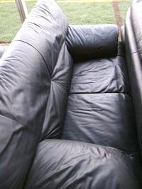 3 piece black leather couch Phoenix, 85051