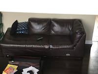 Black leather 3-seat sofa Barrie, L4N 3Z5