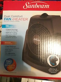 Sunbeam dual comfort fan plus heater box 785 mi