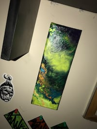 two green and blue abstract paintings Greensboro, 27403