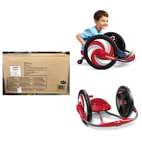 "Radio Flyer, Cyclone Ride-on, Arm Powered, 16"" Wheels, Red"