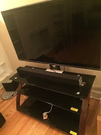55' LG TV With mounted stand