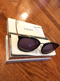 Black framed COVRY sunglasses with box Manassas Park, 20111