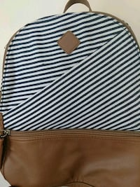 black and white stripe leather crossbody bag Mansfield, 44902
