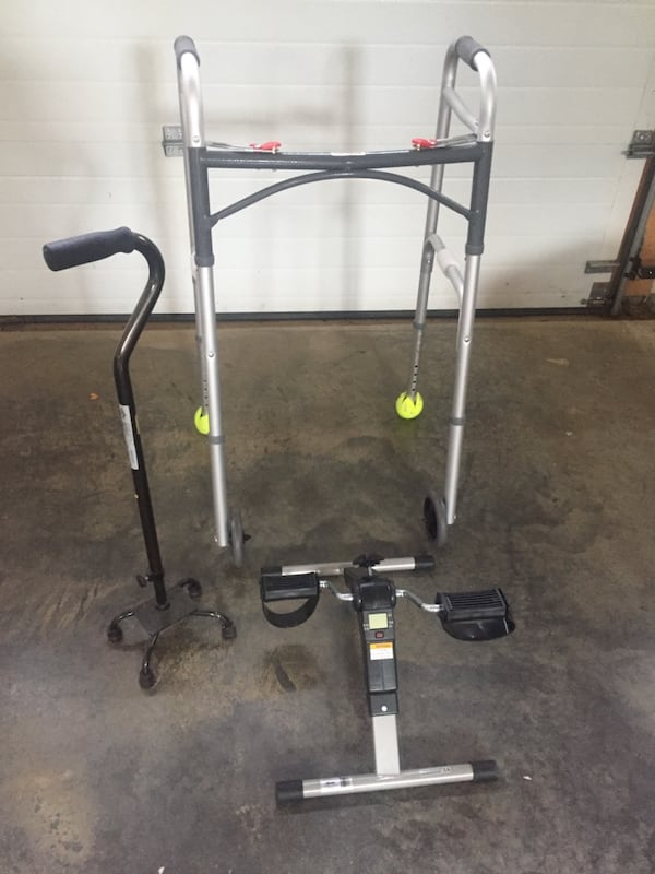 Walker, 4pronged cane & bike - great equipment for recovery & senior citizens  98fec28a-c7c8-464b-b4b8-55b769028c75