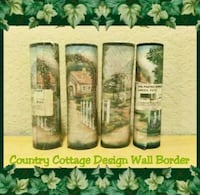 4 NEW ROLLS OF COUNTRY COTTAGE DESIGN WALL BORDER Ontario, 91762