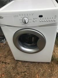 white front-load clothes washer Lynnwood, 98036
