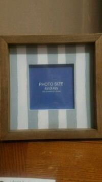 8x8 wood frame...gray and whitestriped Youngstown, 44515