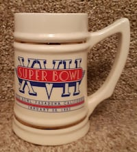 1983 Super Bowl 17 (XVII) Rose Bowl Beer Stein Mug Cup Ceramic Pasaden