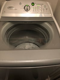 White front-load clothes washer Irving, 75061