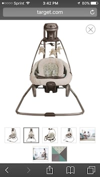 Baby's brown cradle and swing Saint Augustine, 32084