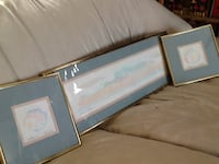 Matching set of 3 Southwest framed art prints Monitor, 48706