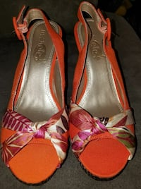 Orange, Pink, Brown & Cream Rue21Brand Wedge Heels