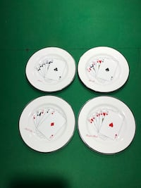 Playing Card Dish Set Porcelain Glassware 3145 km