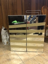 white wooden frame glass top TV stand Toronto, M4A 1N7