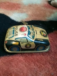Police car metal toy wind up