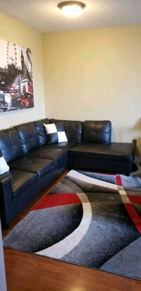 BLACK LEATHER SECTIONAL  Toronto, M6S