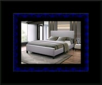 Grey platform bed with mattress all sizes Alexandria, 22305