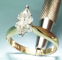 Marquise cut gold diamond engagement ring Macon