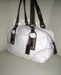 White Leather Coach with Wallet North Bergen