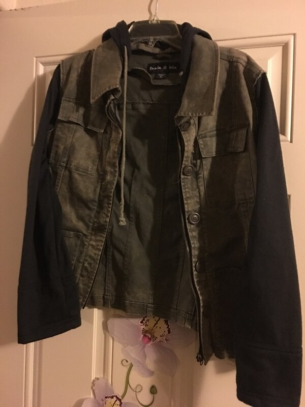 Used Jacket (army green jean with black sweater sleeves) for sale in ... 12d1c84c64cbd