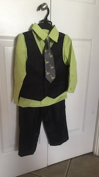 Brand new - pin stripe suit with dinosaur tie Kamloops, V2E 1Y9
