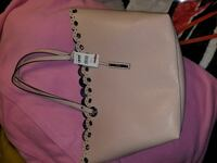 women's floral design white leather hand bag Baltimore