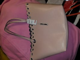 women's floral design white leather hand bag