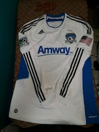 white and blue adidas Amway long-sleeved jersey El Paso, 79925