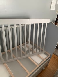 Crib with mattress! And high chair for free