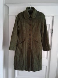 Green button-up coat Europe H&M Spokane, 99205