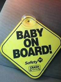 Baby on board car sign  Mississauga, L5E 2G8