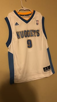 white and blue Adidas Denver Nuggets 9 NBA jersey Mandeville, 70448
