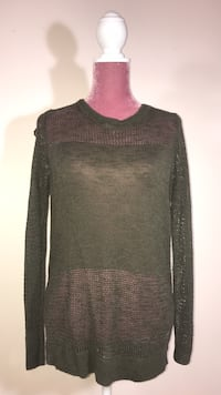 black and red scoop neck sweater Vaughan, L6A 1P2