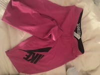 pink and black nike leggings size M
