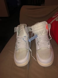 Off-white Jordan One (rare)sz 9.5 Washington, 20002