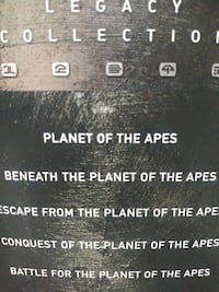 Planet of the Apes Legacy collection dvd
