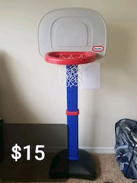 blue and white Little Tikes basketball hoop 31 km