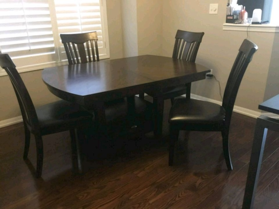 used rectangular brown wooden table with four chairs di for sale in rh es letgo com