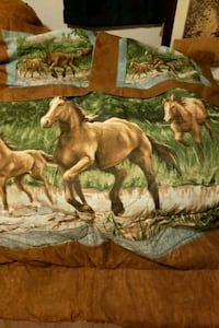 King size horse comforter and pillow shams king Seaford, 19973