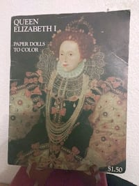 Vintage 1972 Queen Elizabeth Paper Doll Cut Out Bo
