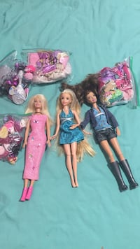 Three Barbie dolls with cloths,shoes and accessories Edmonton, T5Z 2G4