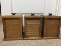3 rustic wooden kitchen canisters Irving, 75060