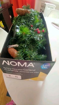 Noma 9ft prelit battery led garland  Toronto, M4E 1X6