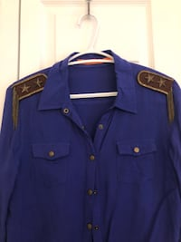 blue button-up collared shirt Montreal, H3G 1A5