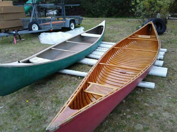 20 foot Cedar strip canoe made by White in Old Tow