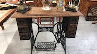 brown wooden sewing machine table Fort Washington, 20744