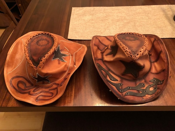 Used Leather cowboy hats for sale in Kawartha Lakes - letgo 220e0a0f2d4