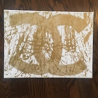 Chanel gold painting